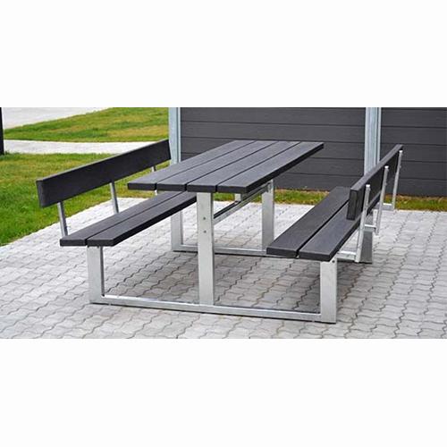 Picknickbord och bänk med ryggstöd Park o grill Webshop