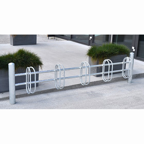 Cykelställ med ovala hållare för nedgjutning, ytmontering eller väggmontage